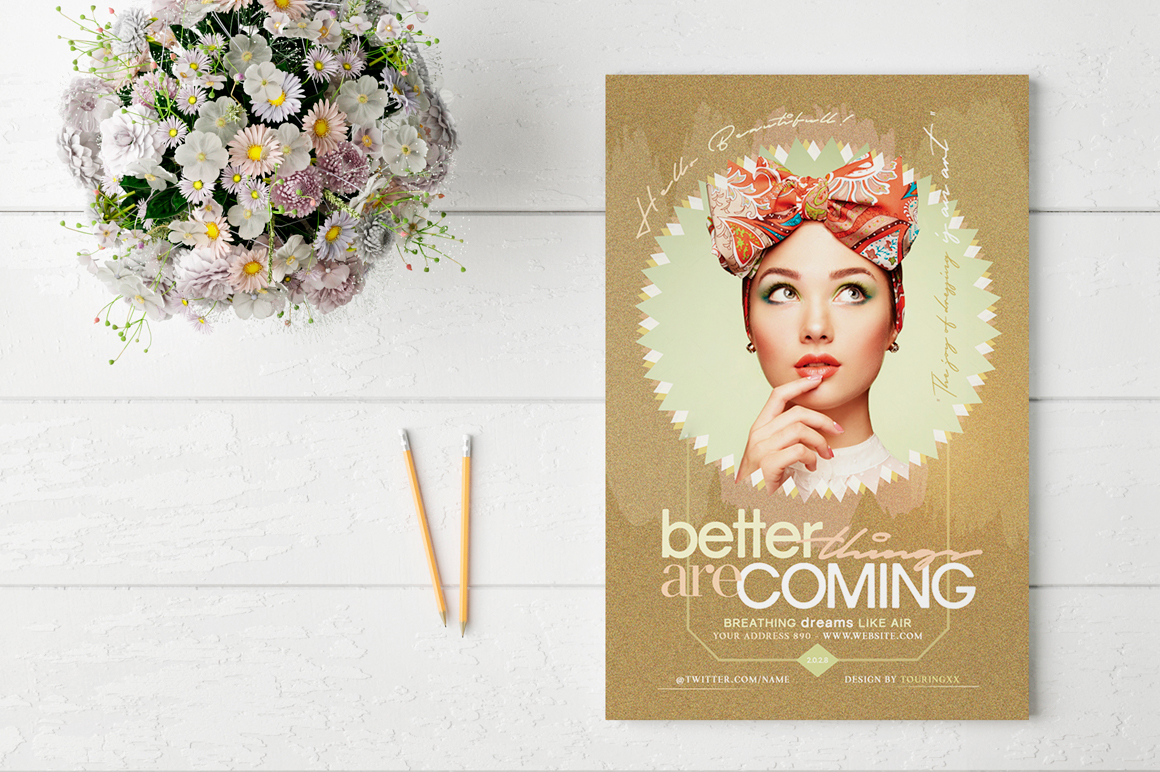 Better Things Are Coming Flyer Template example image 2
