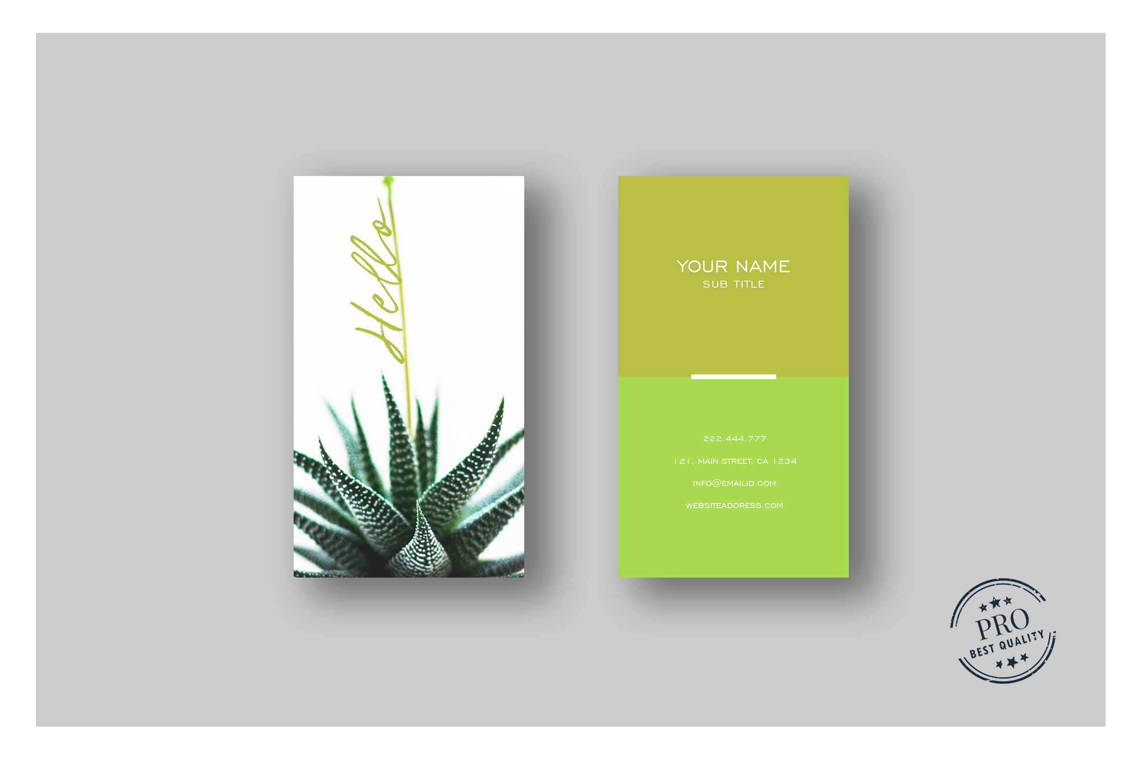 Green Natural colors business card example image 1