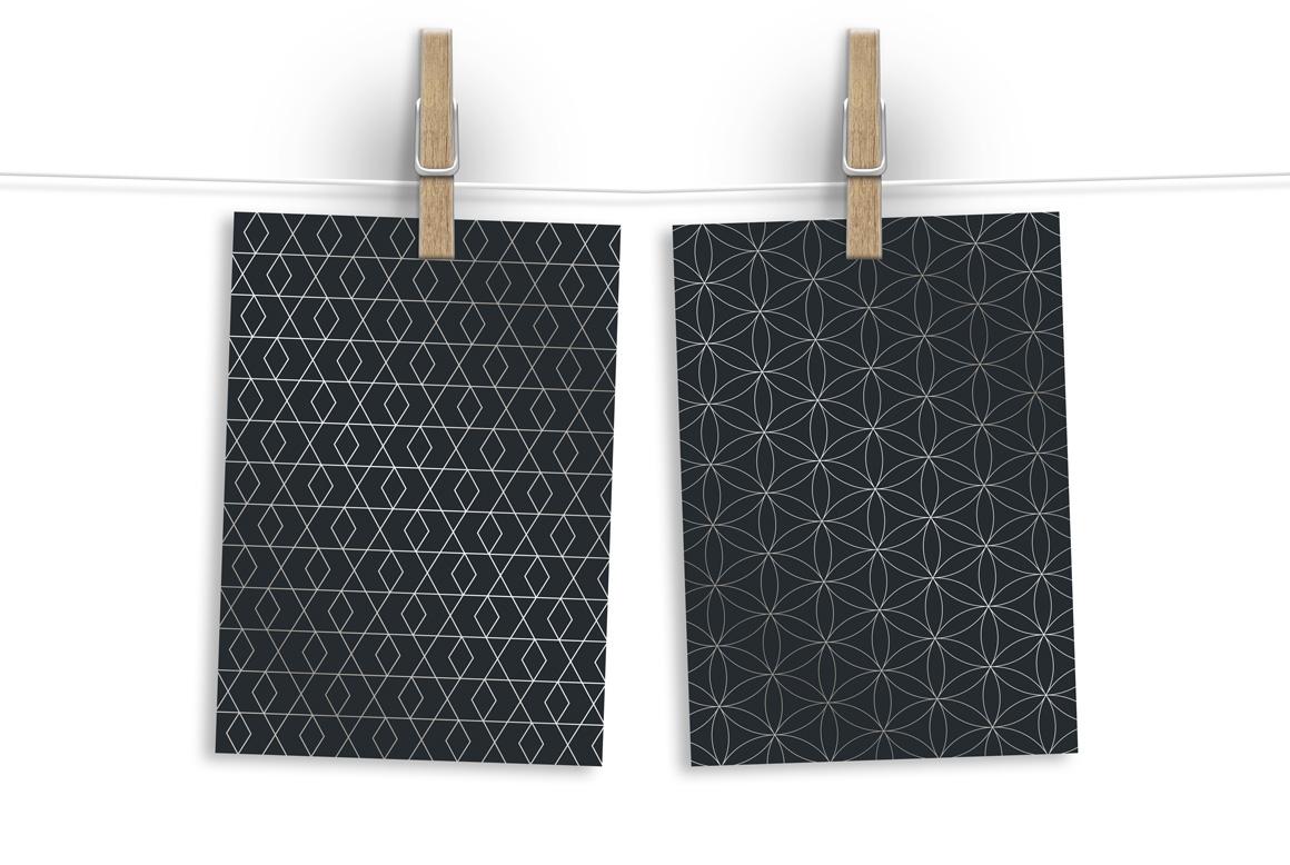 Lyxury seamless ornate patterns. example image 6