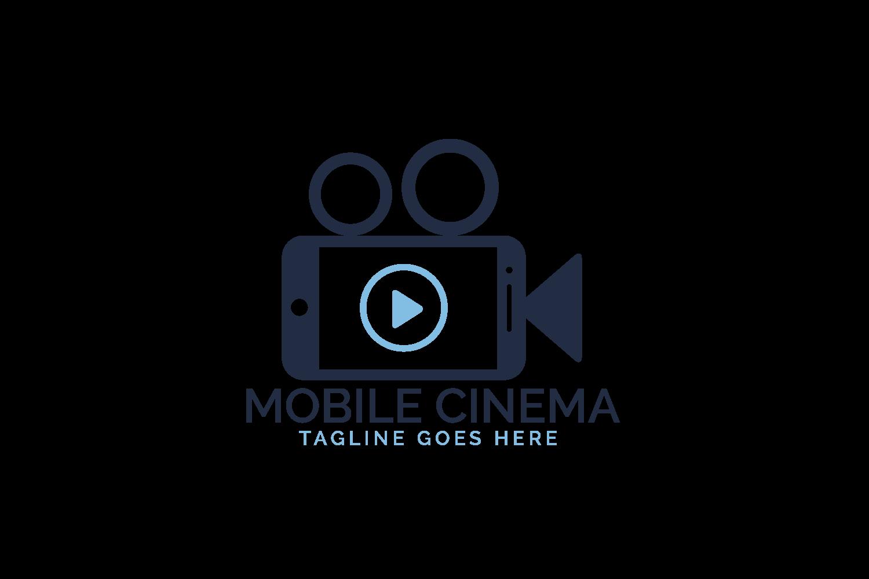 Mobile Cinema Logo Design. example image 2
