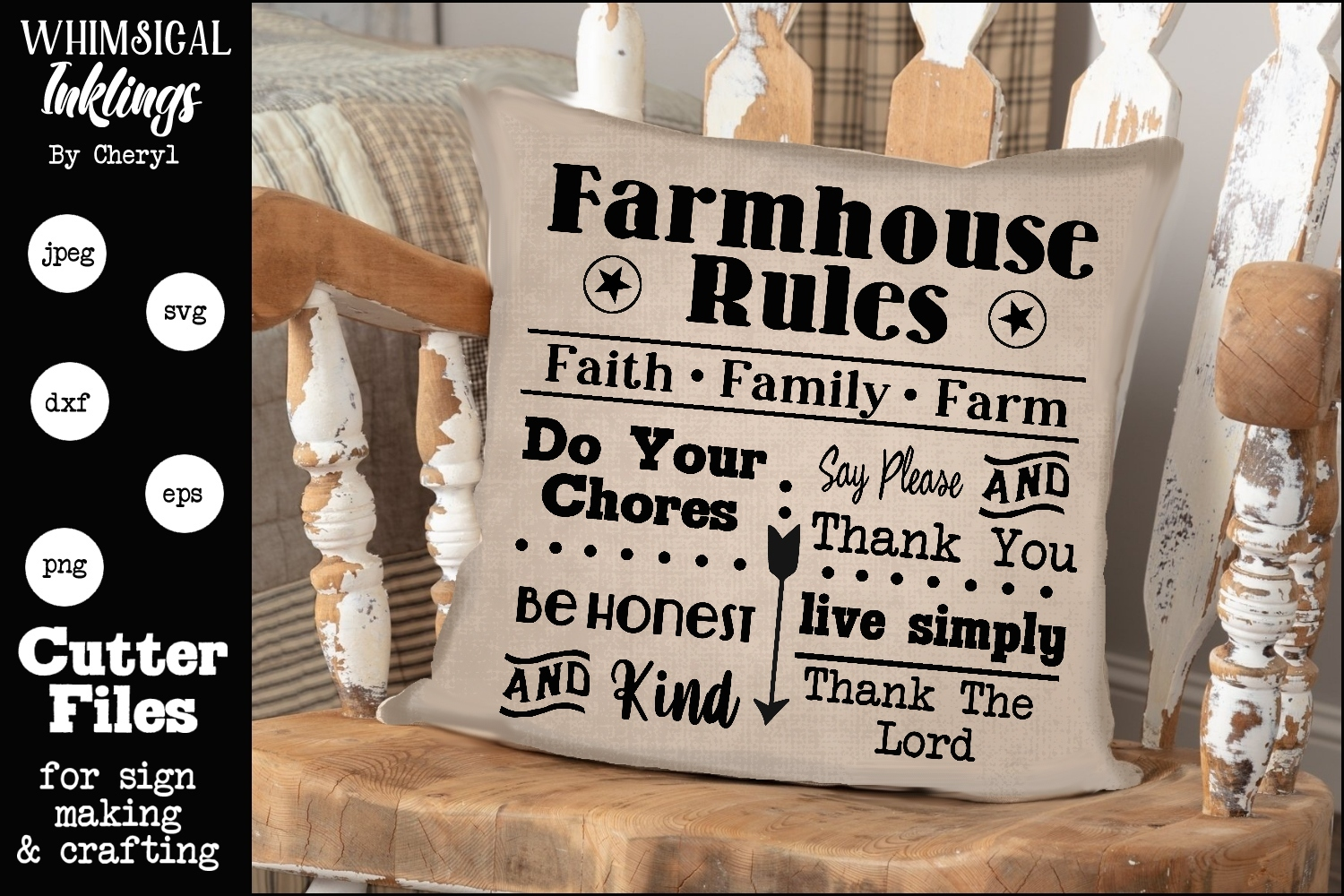 Farmhouse Rules 2 SVG example image 1