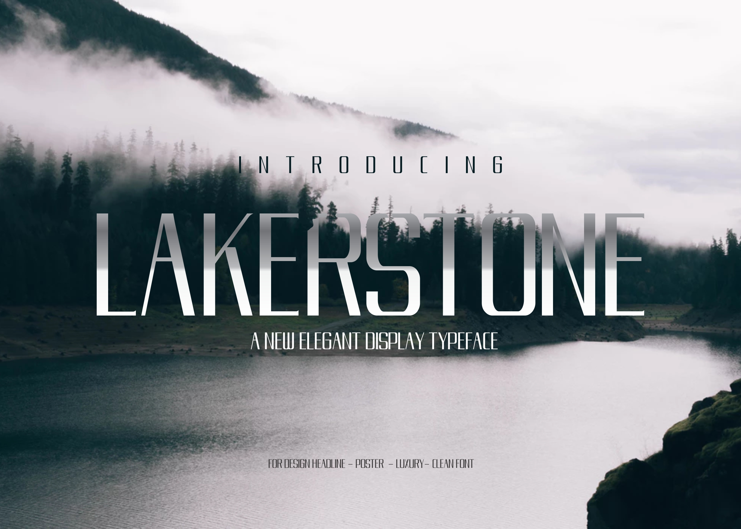 LAKERSTONE - A LUXURY AND ELEGANT CLEAN TYPEFACE example image 7