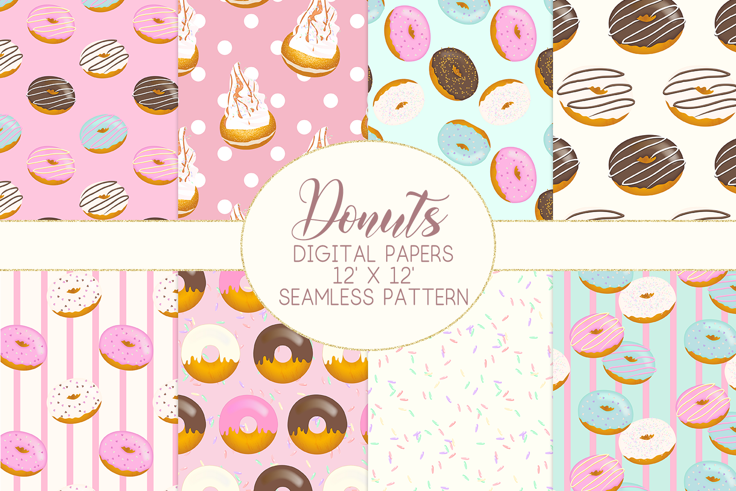 Donuts Digital Papers example image 1