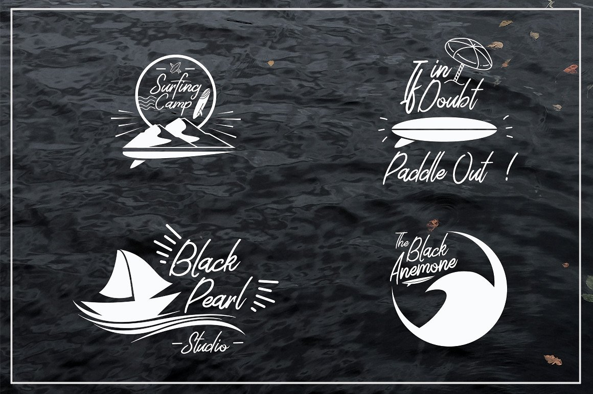 Harmonic Script With Summer Illustration Package Bundle example image 3
