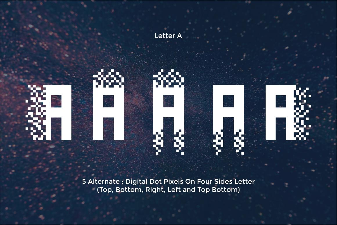 Pixel Bit Typeface example image 3
