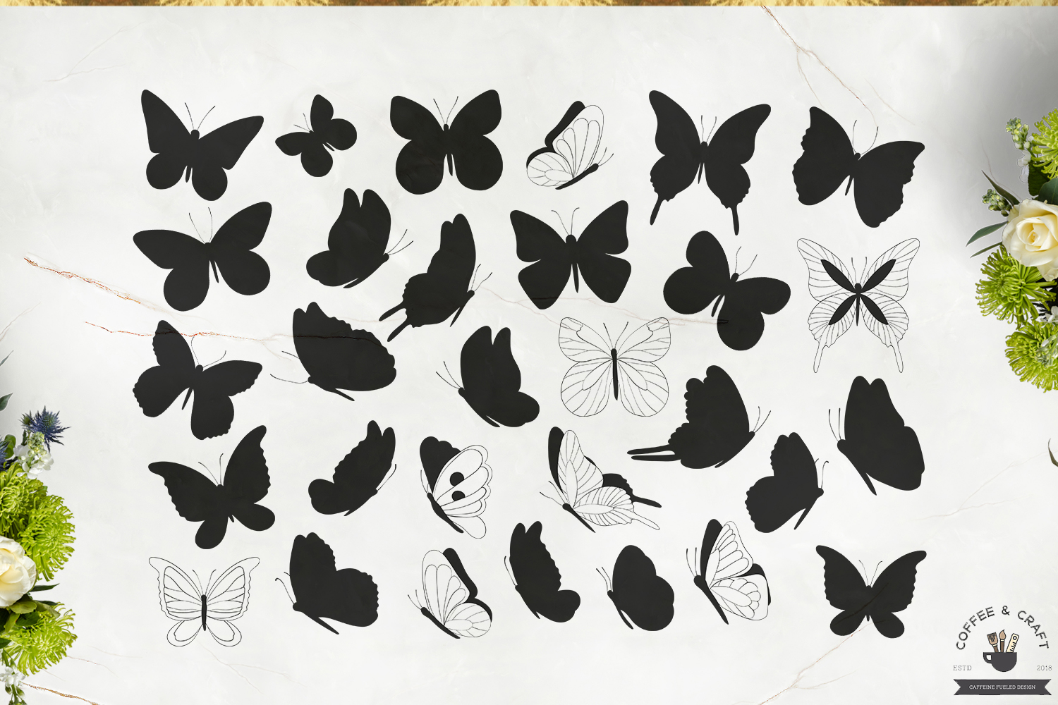 Butterfly Silhouettes example image 2
