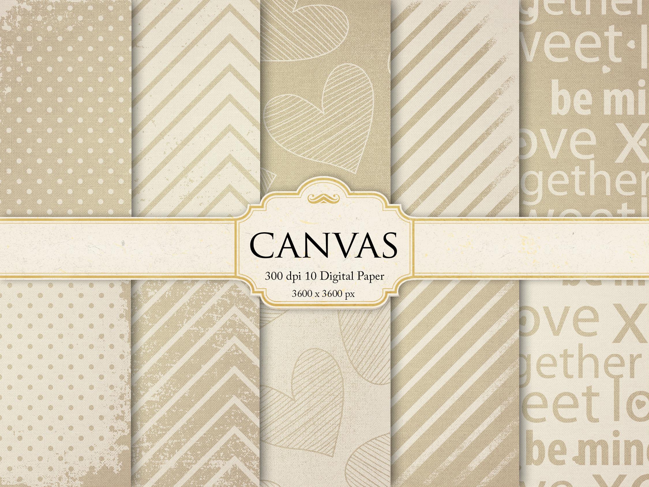 Wedding Canvas Digital Paper example image 1