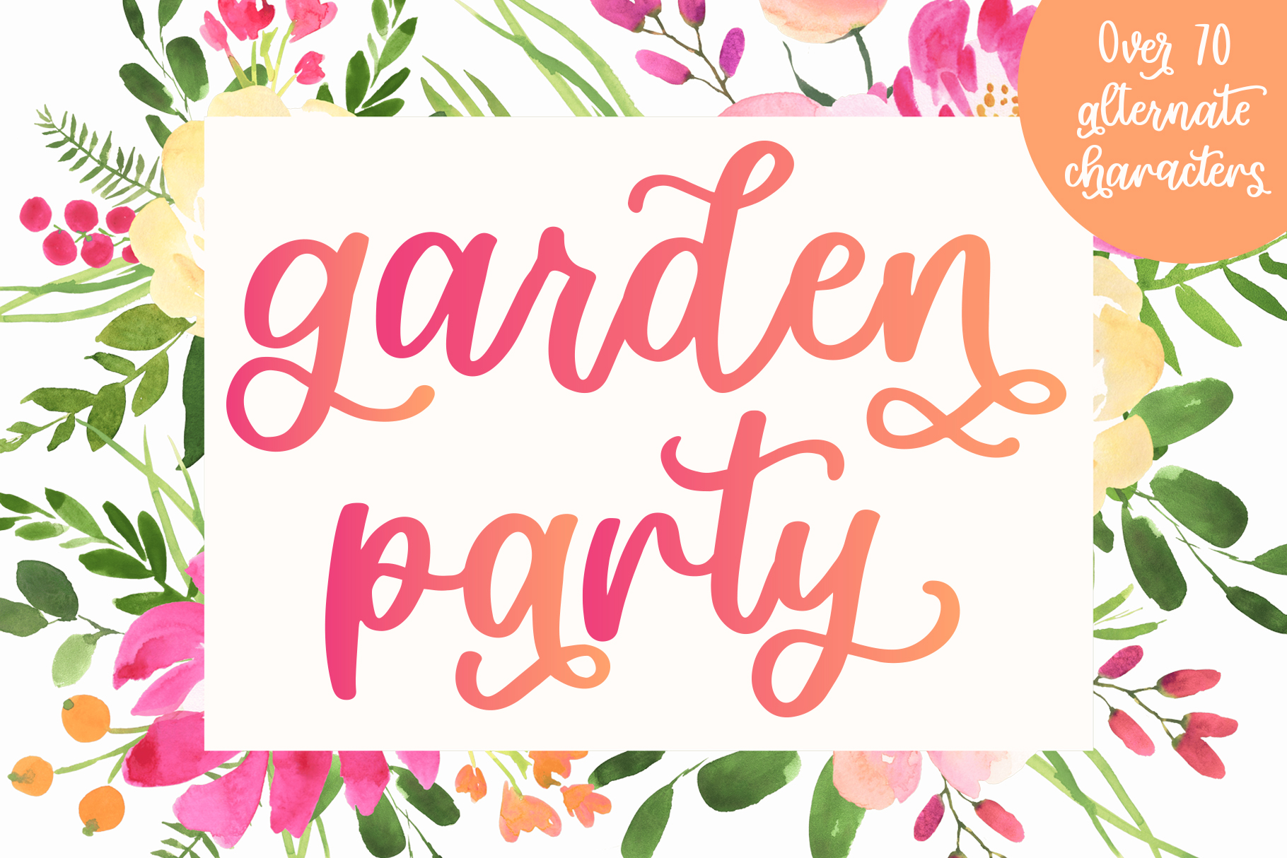 Garden Party, Smooth Script Font With Alternates example image 1