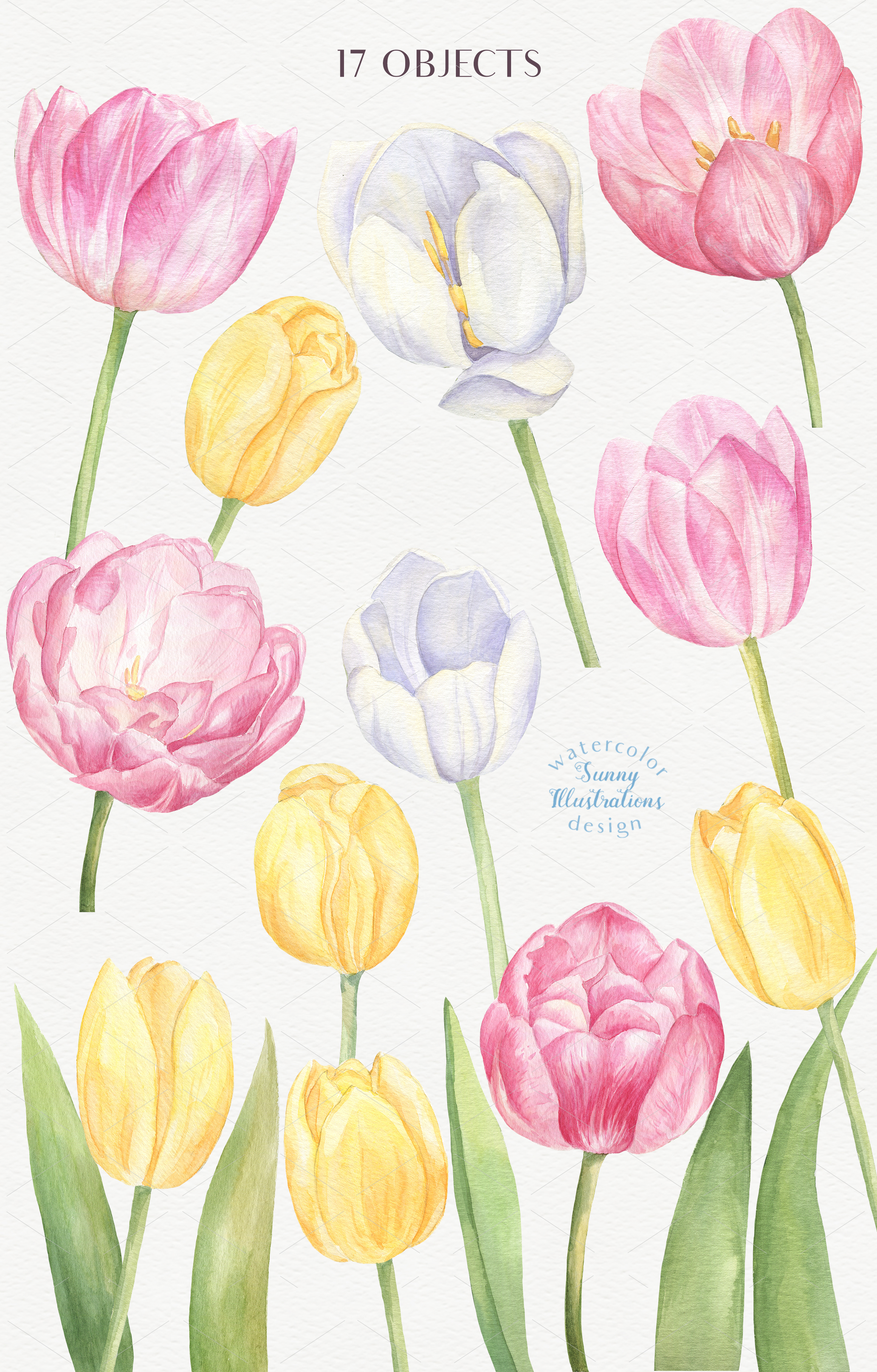 Watercolor Tulips example image 2