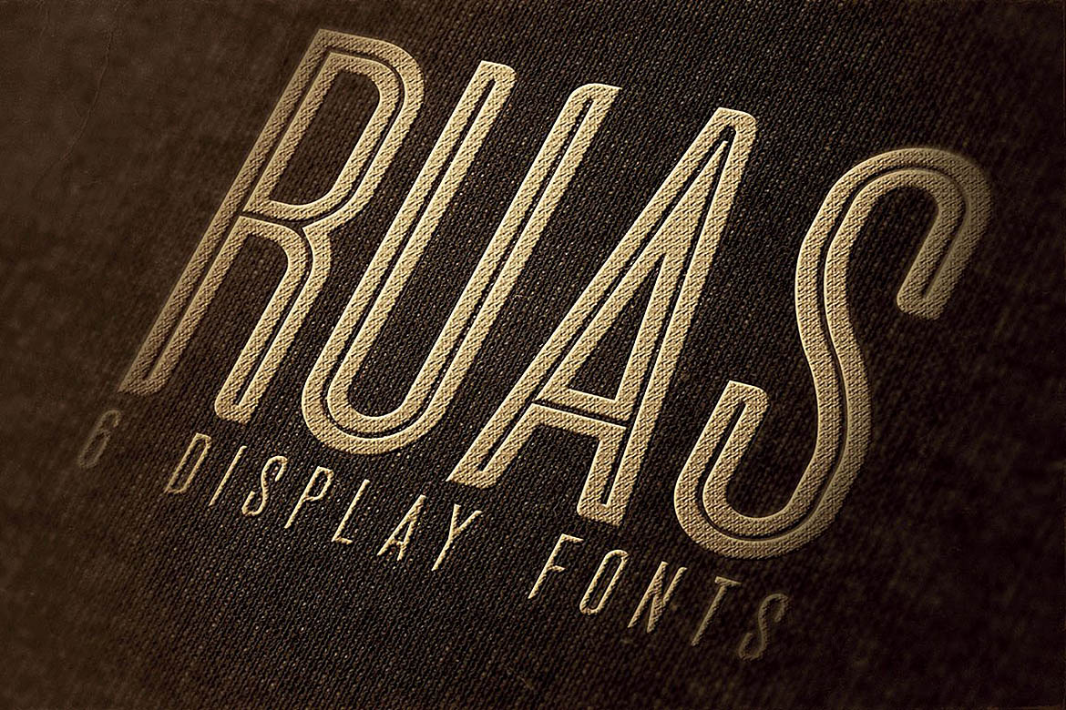 Ruas - Vintage Style Font example image 5