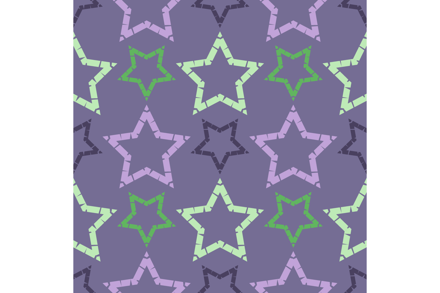 Ornament with Stars. Set of 10 seamless patterns. example image 7
