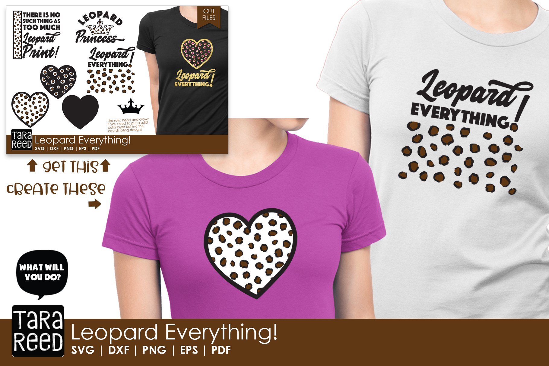 Leopard Everything - Leopard Print SVG and Cut Files example image 3
