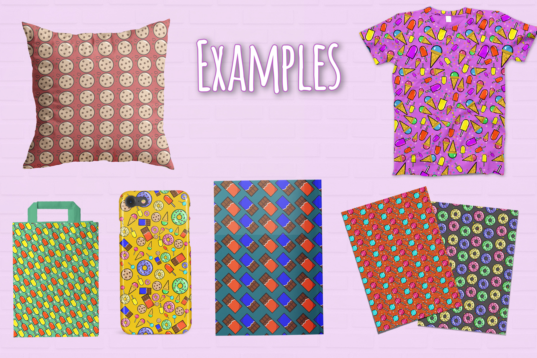 10 Sweets Seamless Patterns example image 2