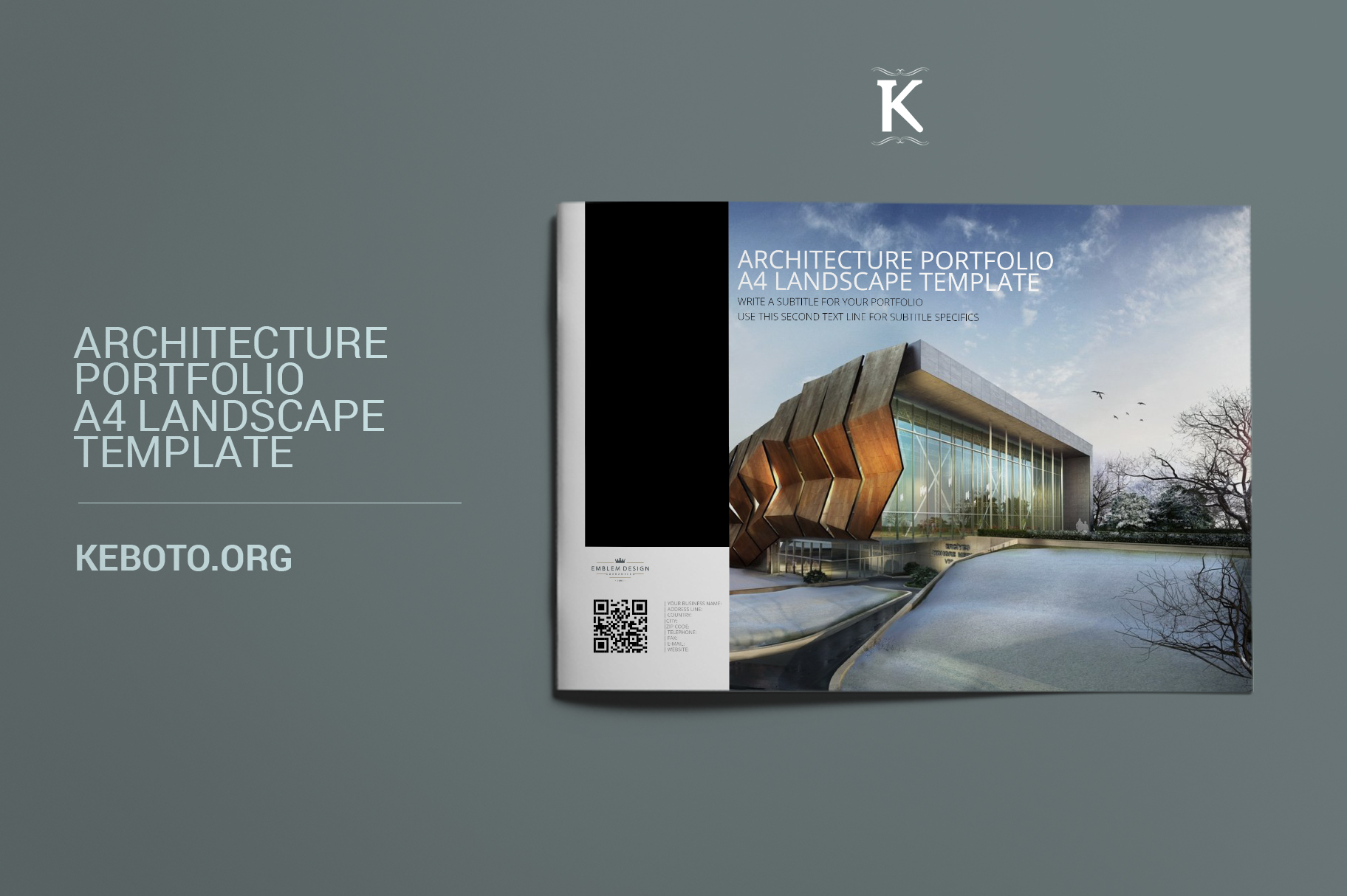 architecture portfolio a4 landscape template
