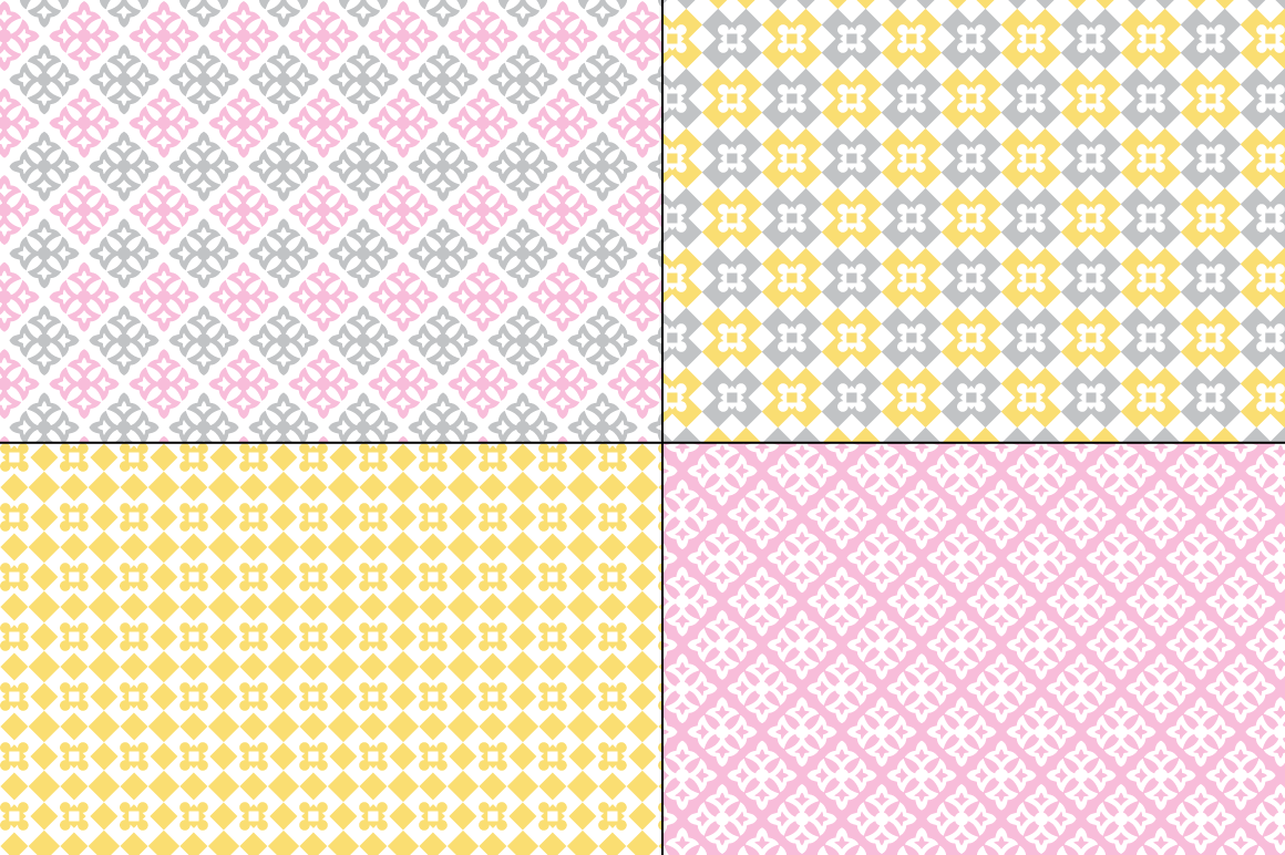 Seamless Pastel Quilt Patterns example image 3