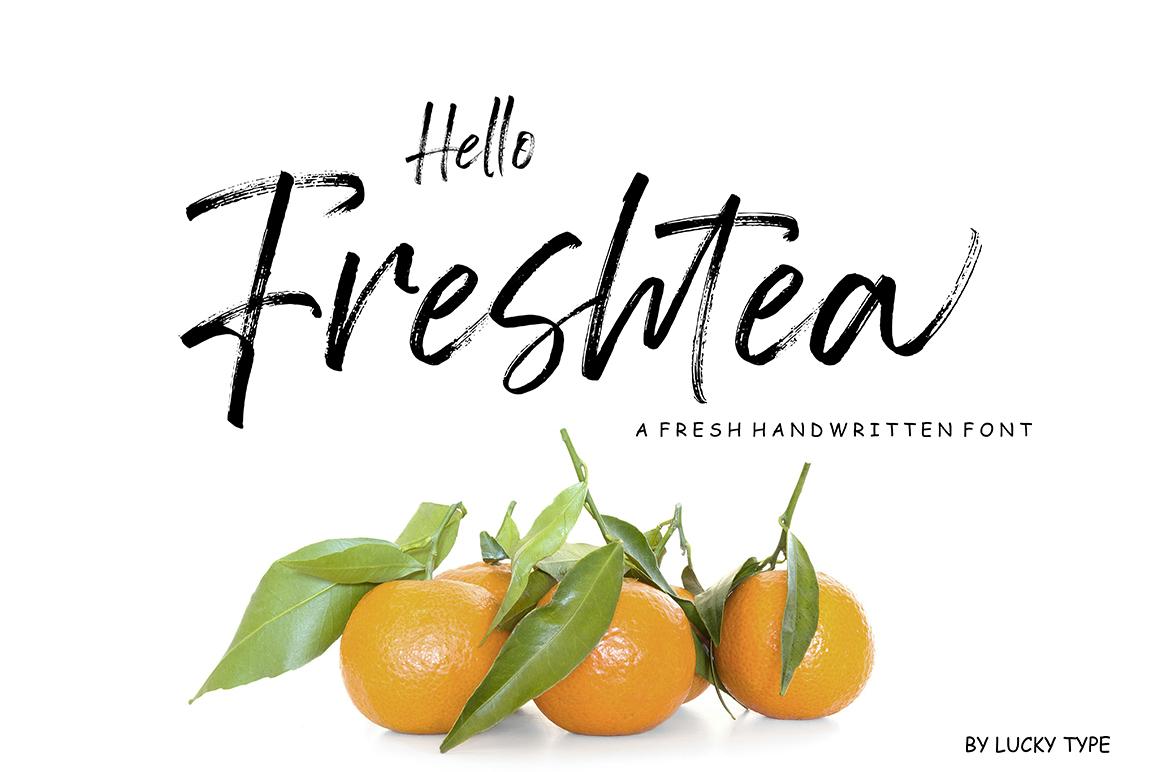 Hello Freshtea Brush Font example image 1