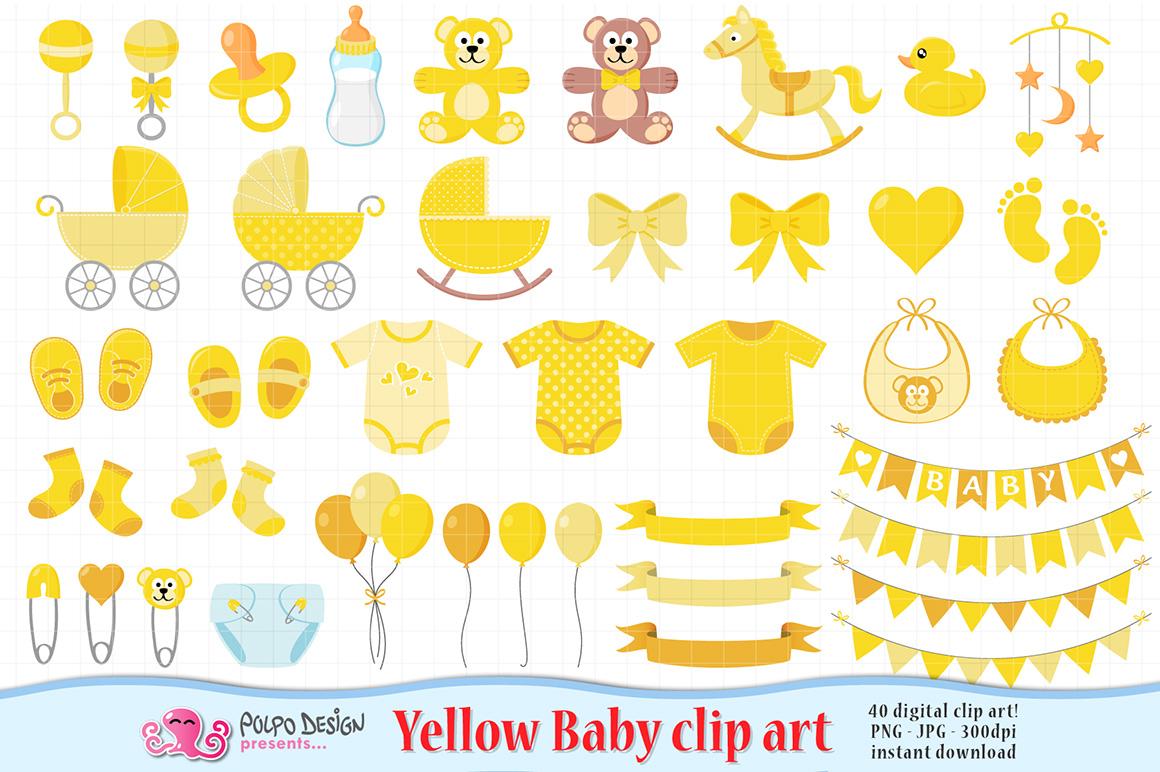 Yellow Baby Clip art example image 1