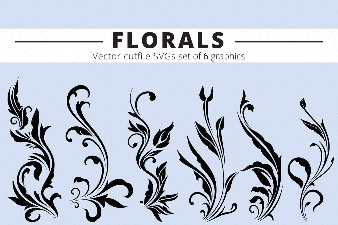 SVG Florals Cutfiles Bundle Pack of 270 vector graphic shape example image 6