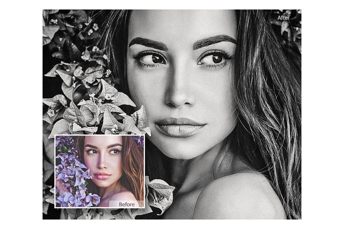 Black White Lightroom Mobile Presets Adroid and Iphone/Ipad example image 2