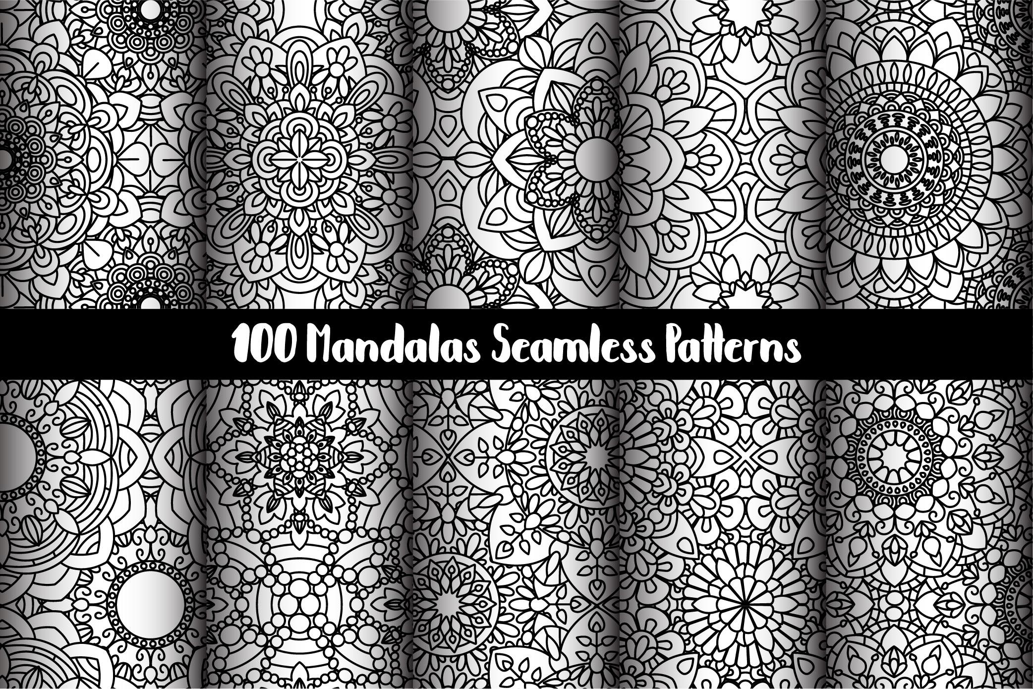 100 Mandalas Seamless Patterns example image 17