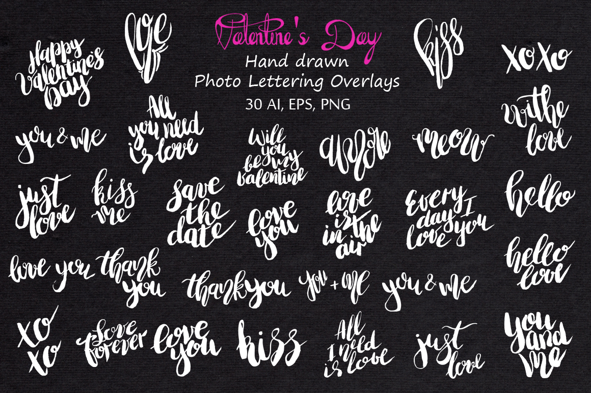 Love Lettering & Graphic overlays  example image 6