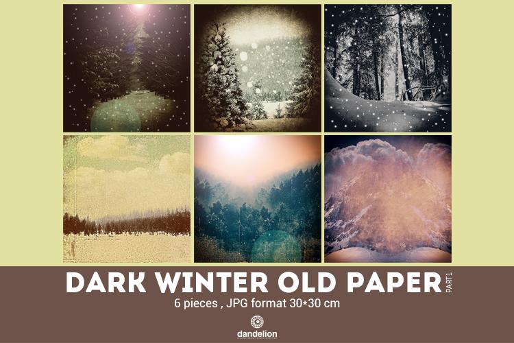 Dark Winter Old Paper part 01 example image 1
