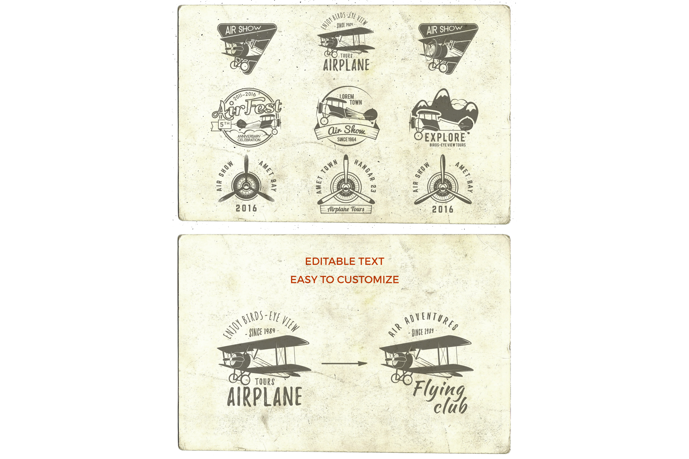 Airplane Badges & Design Elements example image 2