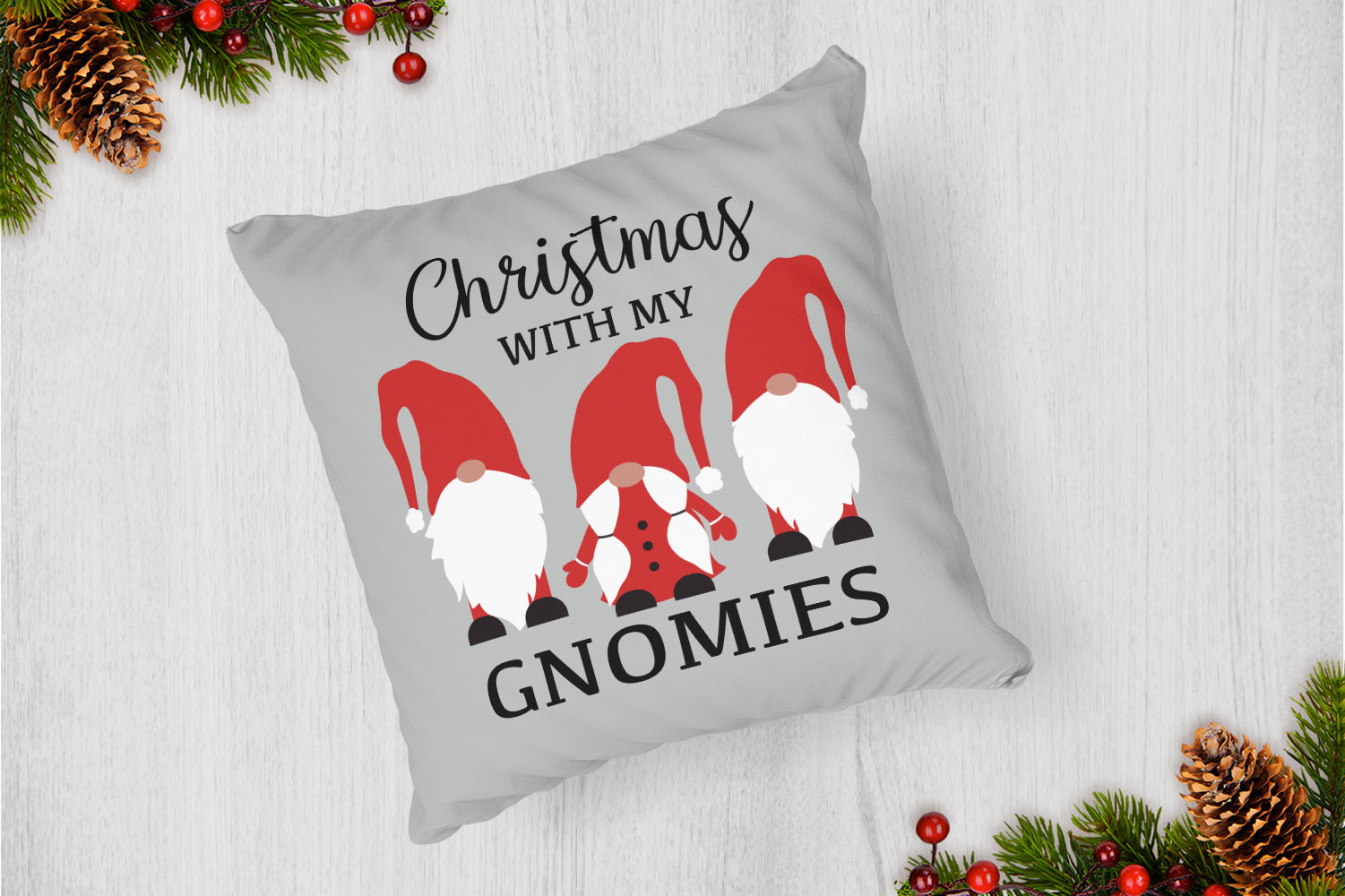 Christmas With My Gnomies Svg example image 4