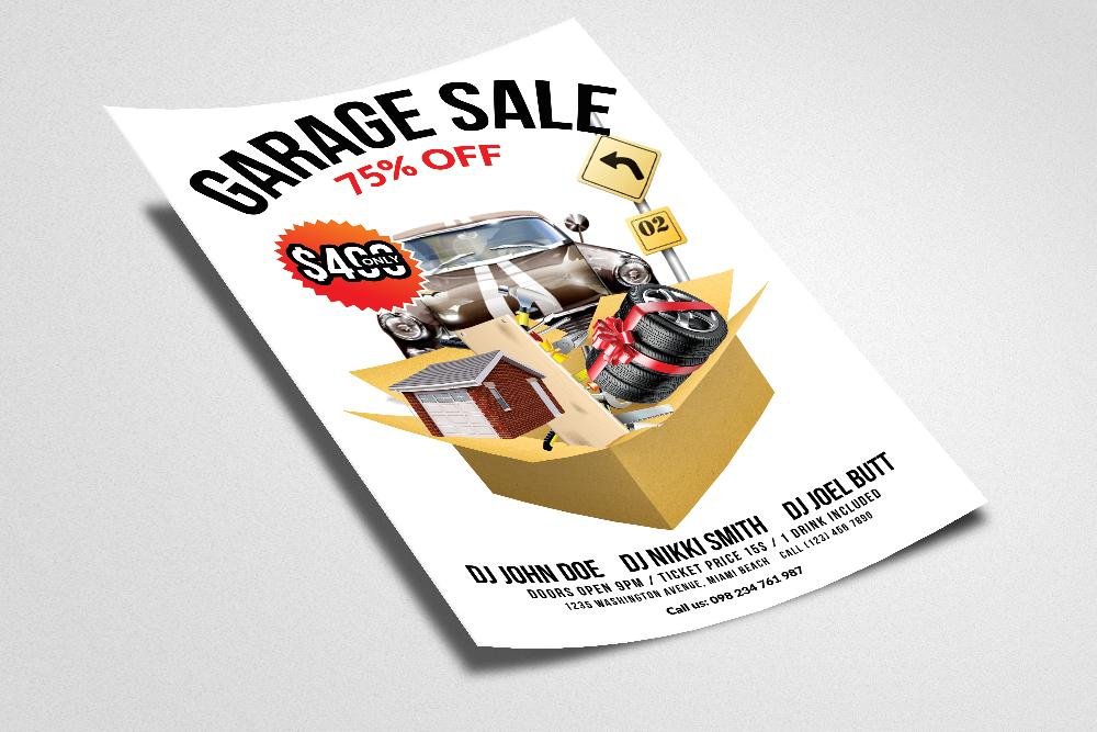 Garage Sale Flyer Print Templates example image 2
