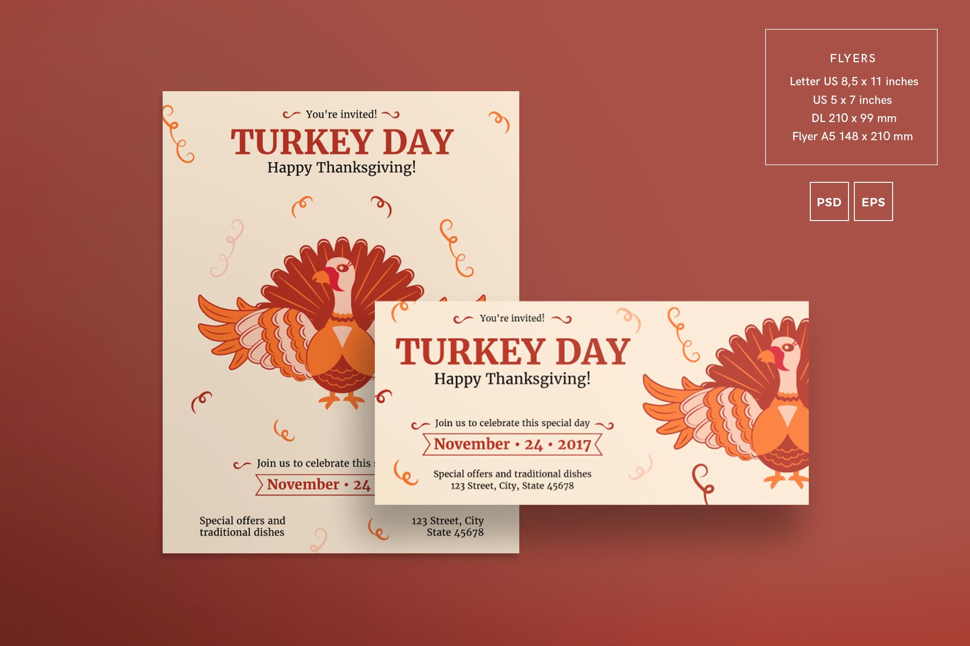 Thanksgiving Celebration Design Templates Bundle example image 2