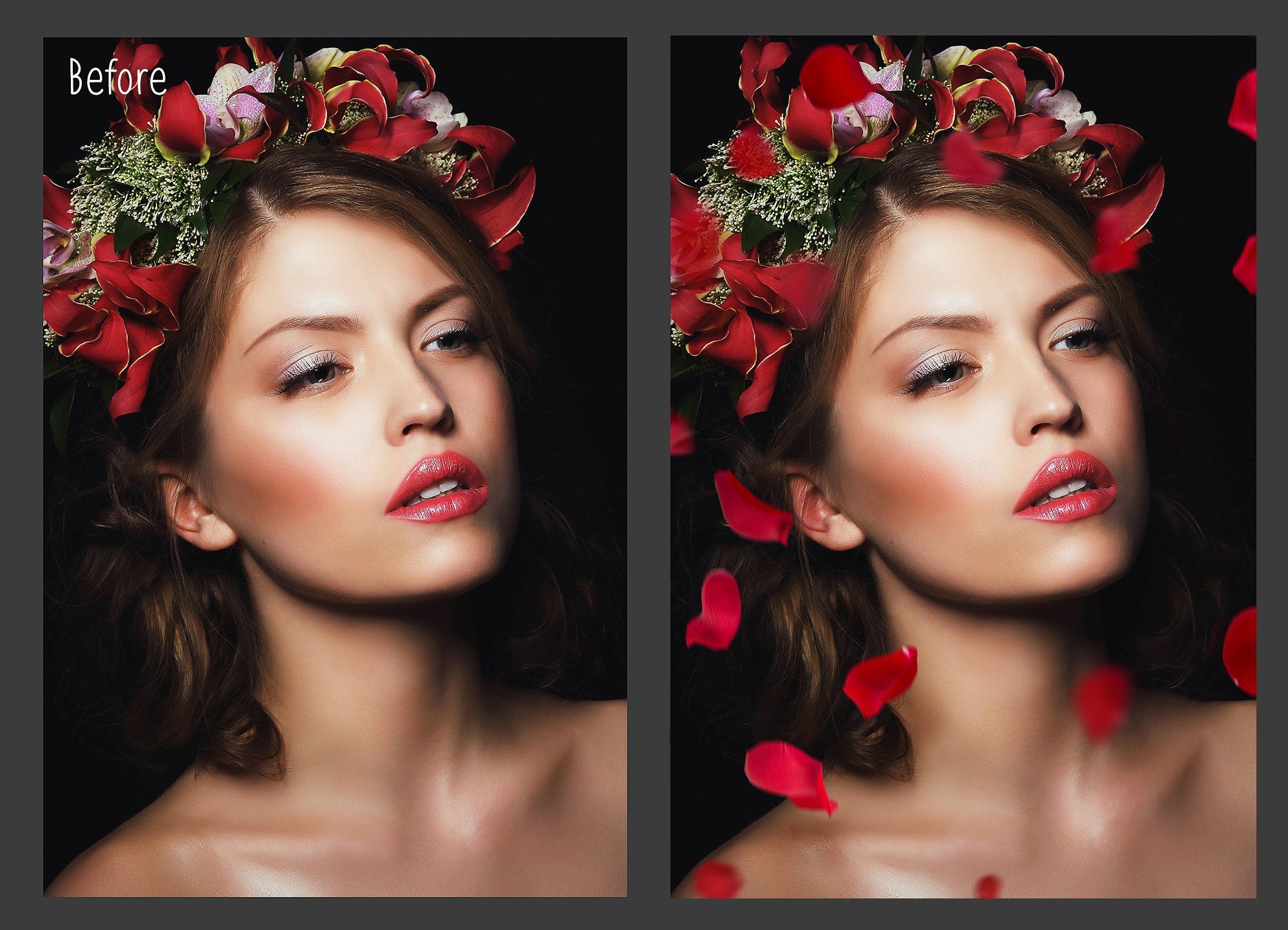 Falling Rose Petals Photo Overlays example image 6
