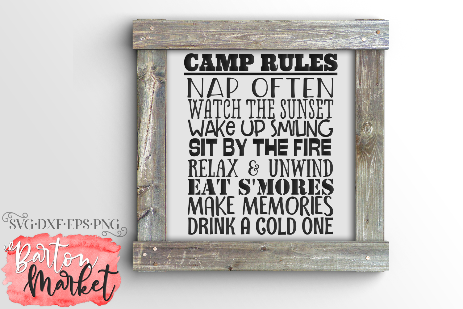 Camp Rules SVG DXF EPS PNG example image 1