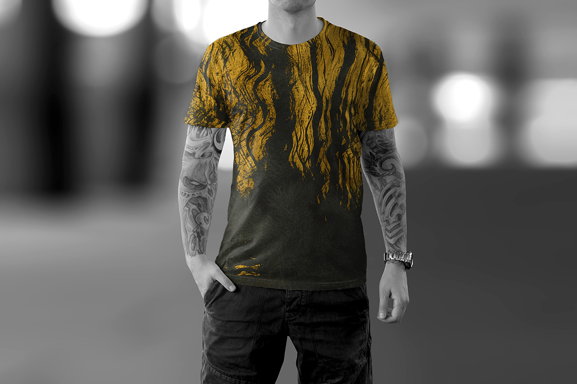 Gold Ink Backgrounds example image 3