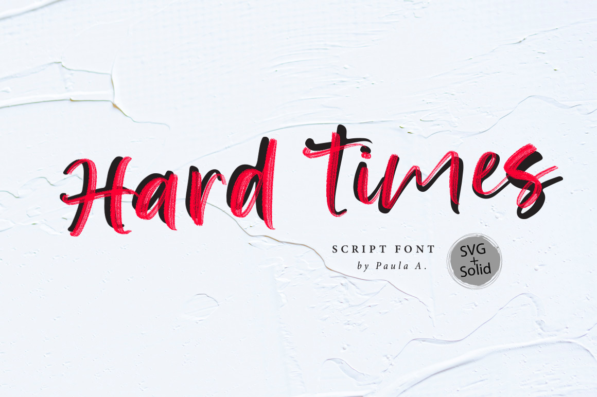 Hard Time SVG Font example image 1