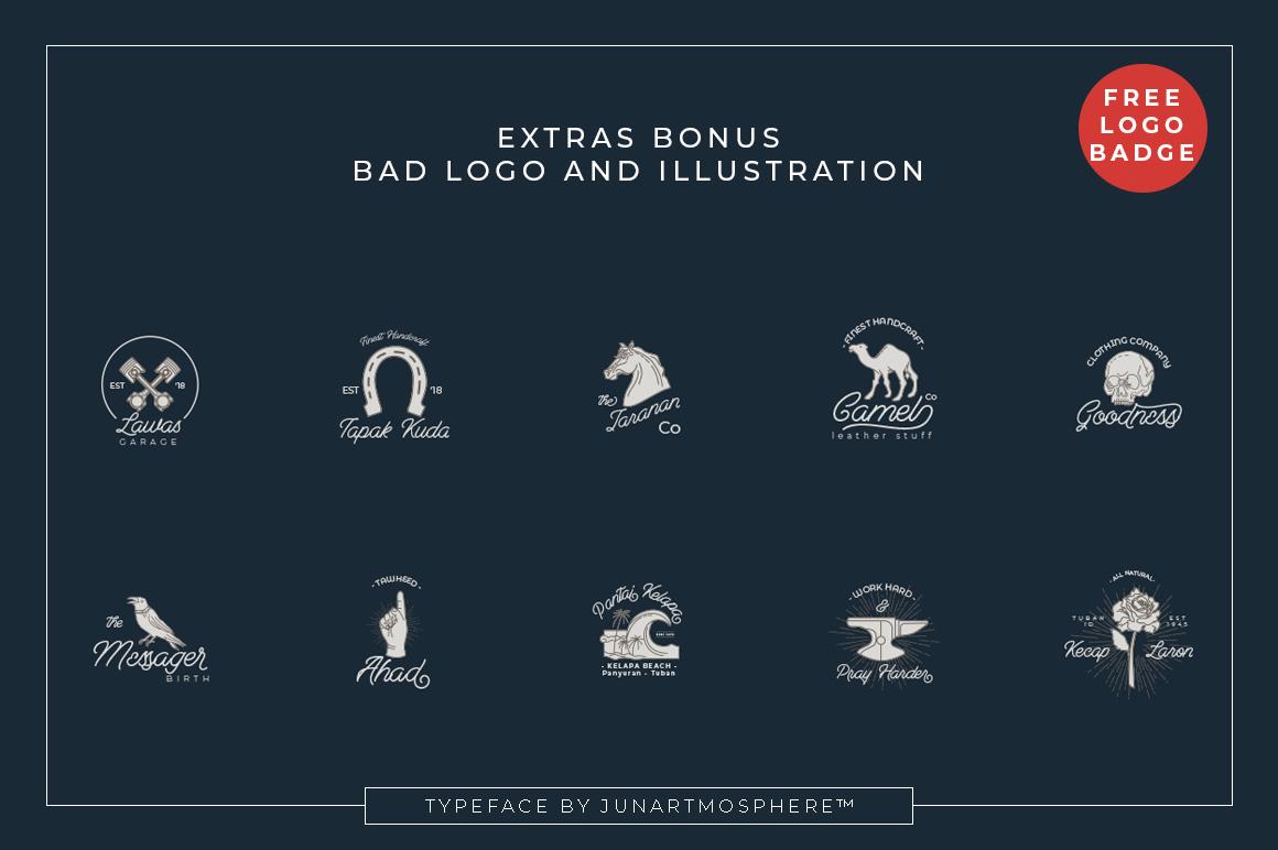 Berliana Monoline Font Extrass Logo example image 4