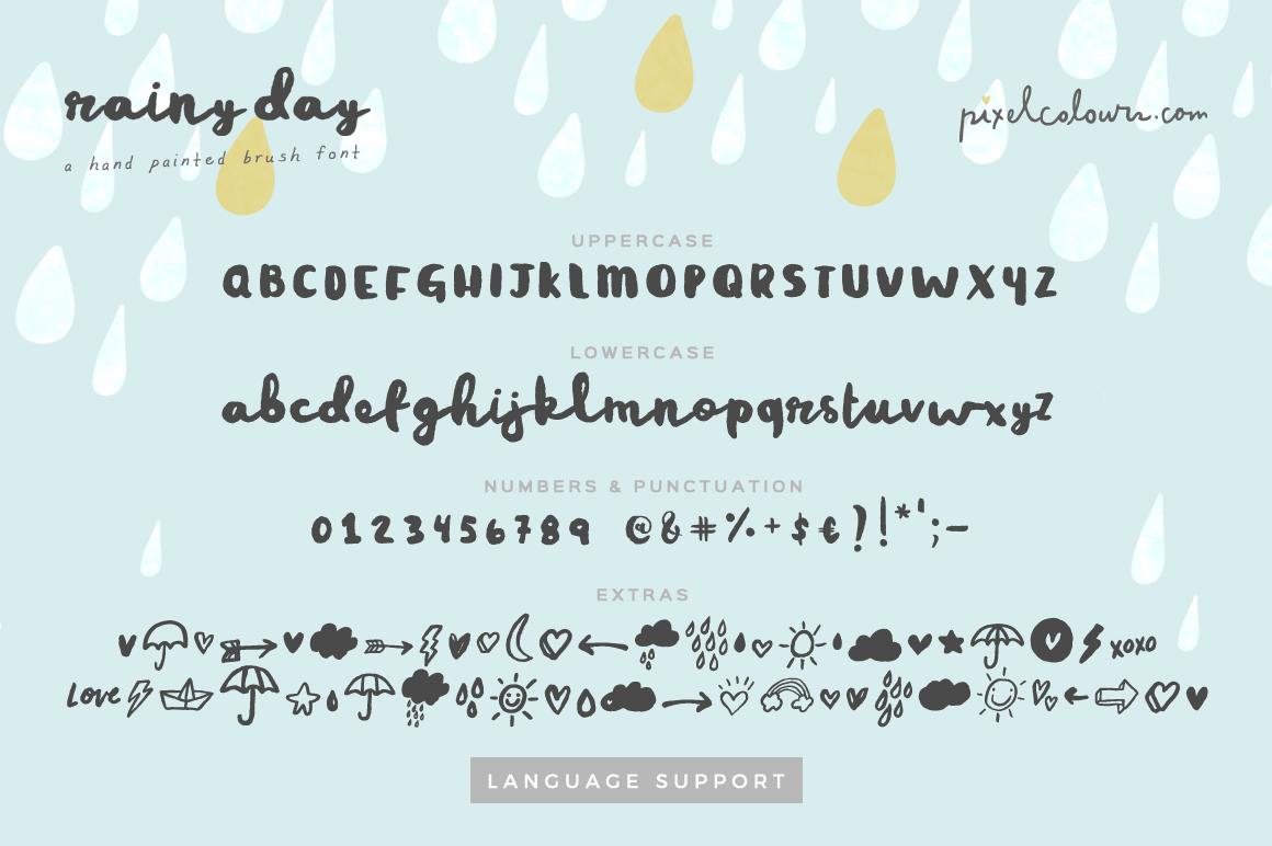 Rainy Day Brush Font example image 4