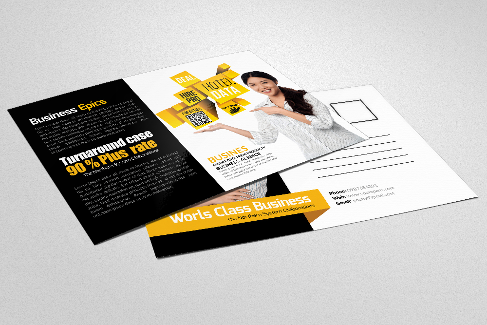 Business & Corporate Postcards Template example image 3