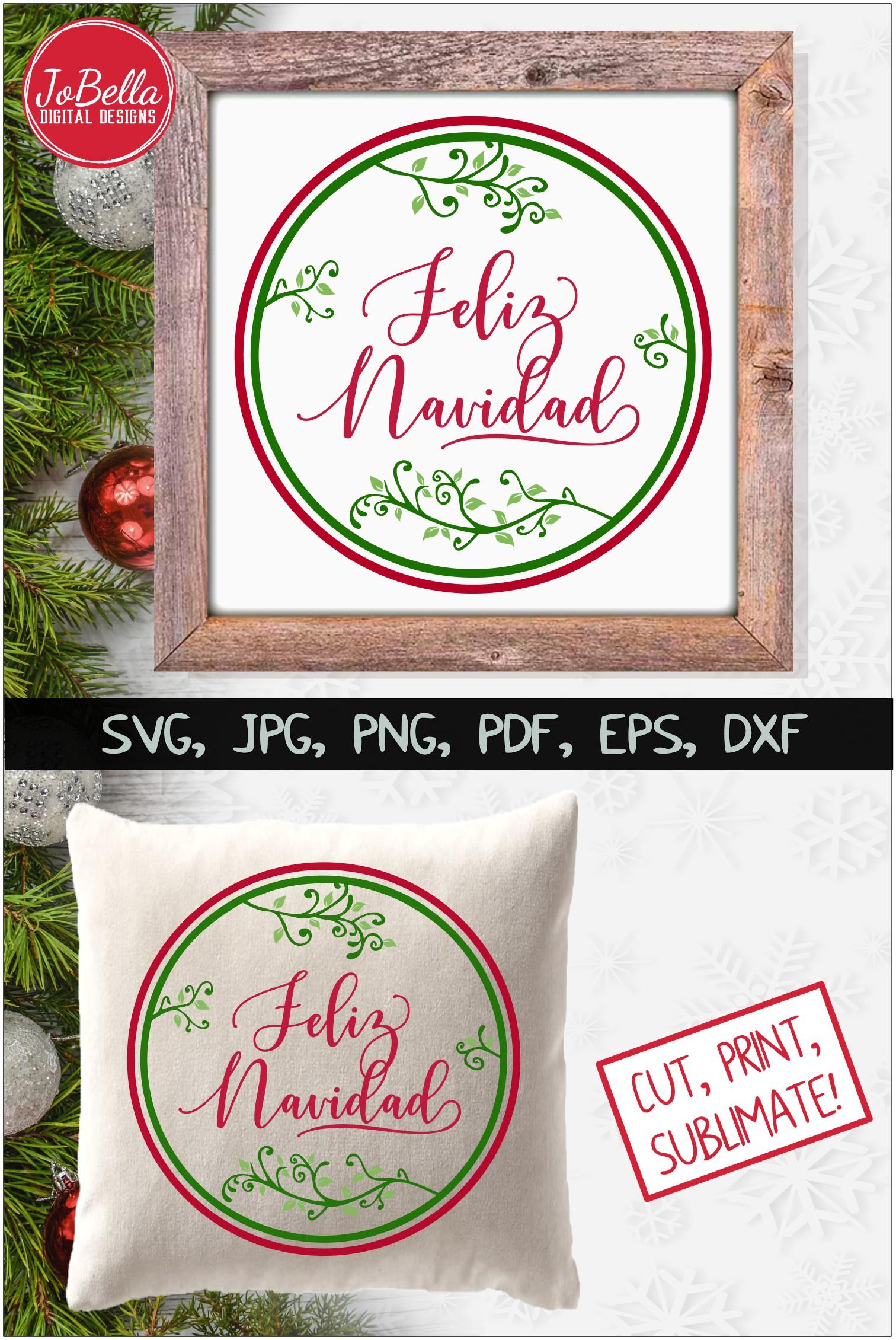 Feliz Navidad SVG Printable & Sublimation PNG example image 4