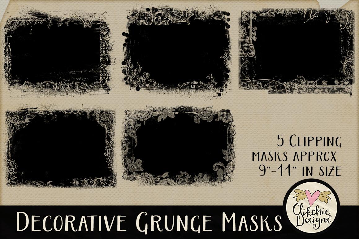 Decorative Grunge Photoshop Clipping Masks & Tutorial example image 3