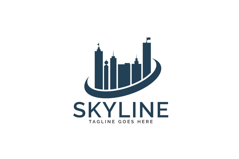 Skyline logo design. Real estate or Construction agency logo example image 1