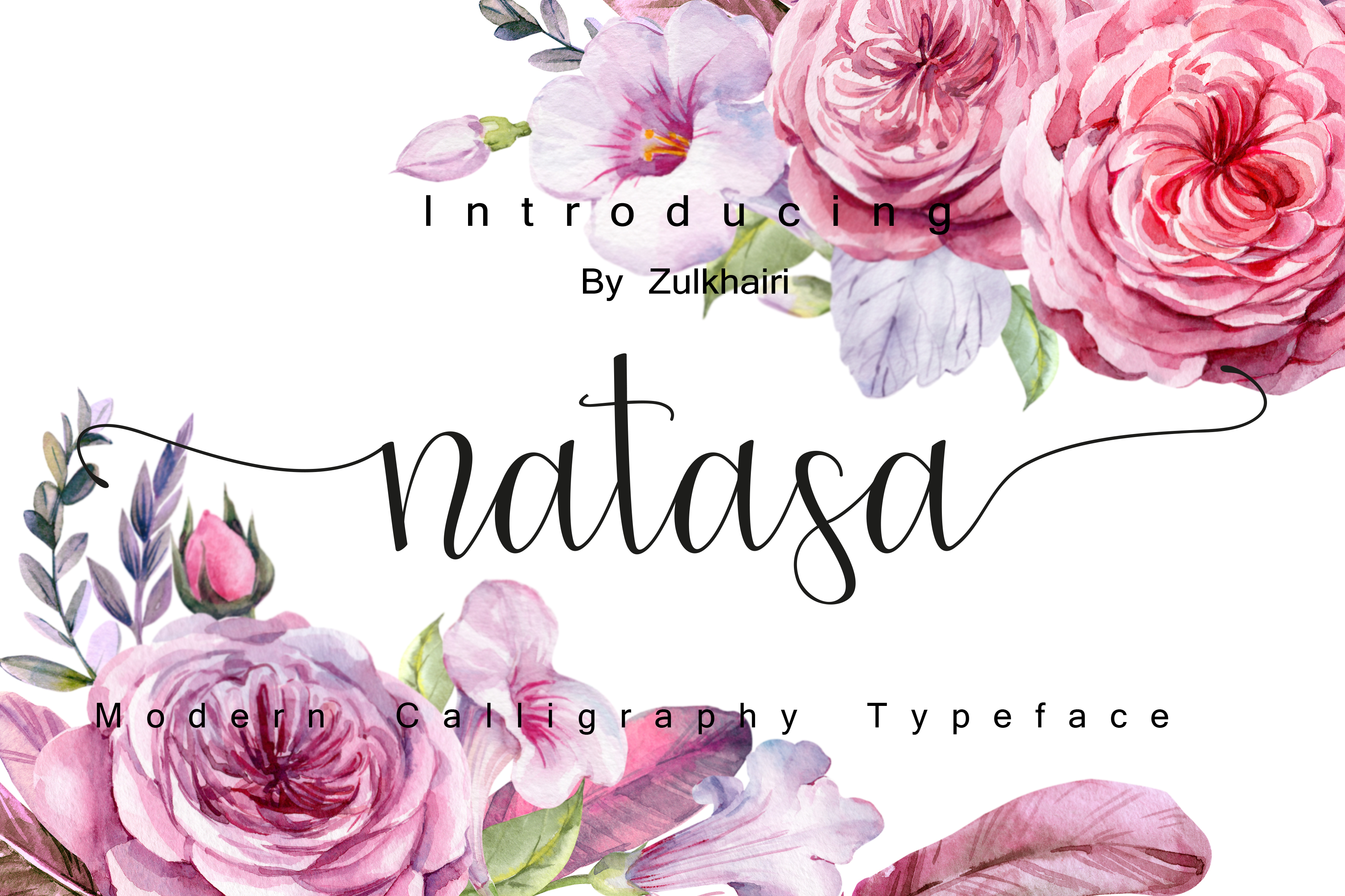 Natasa script font example image 5