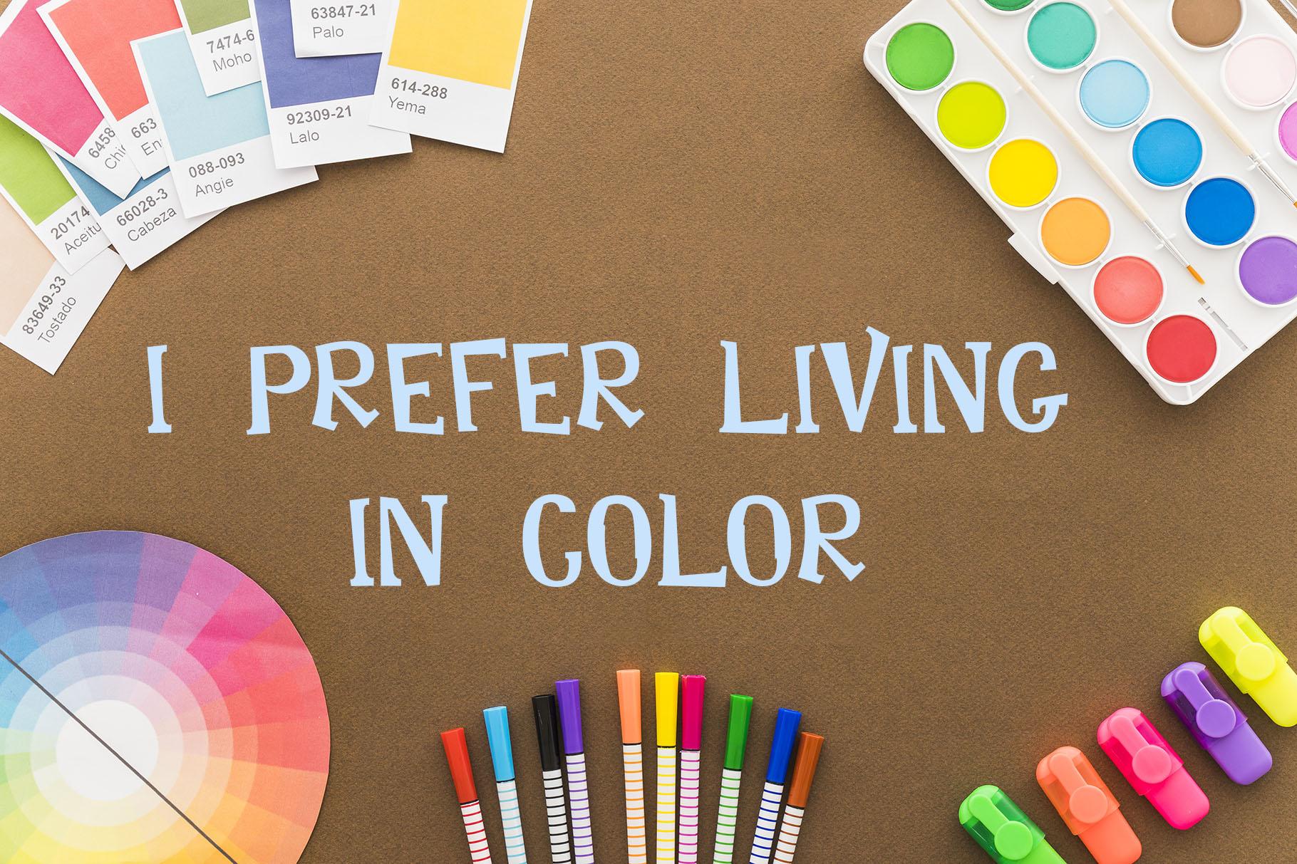 Rainbow Chalk fun kids font example image 9