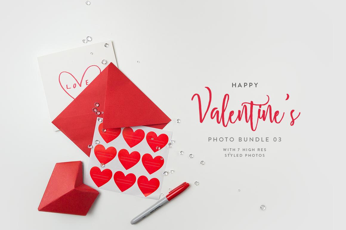 Valentine's Styled Photo Bundle - Red example image 3