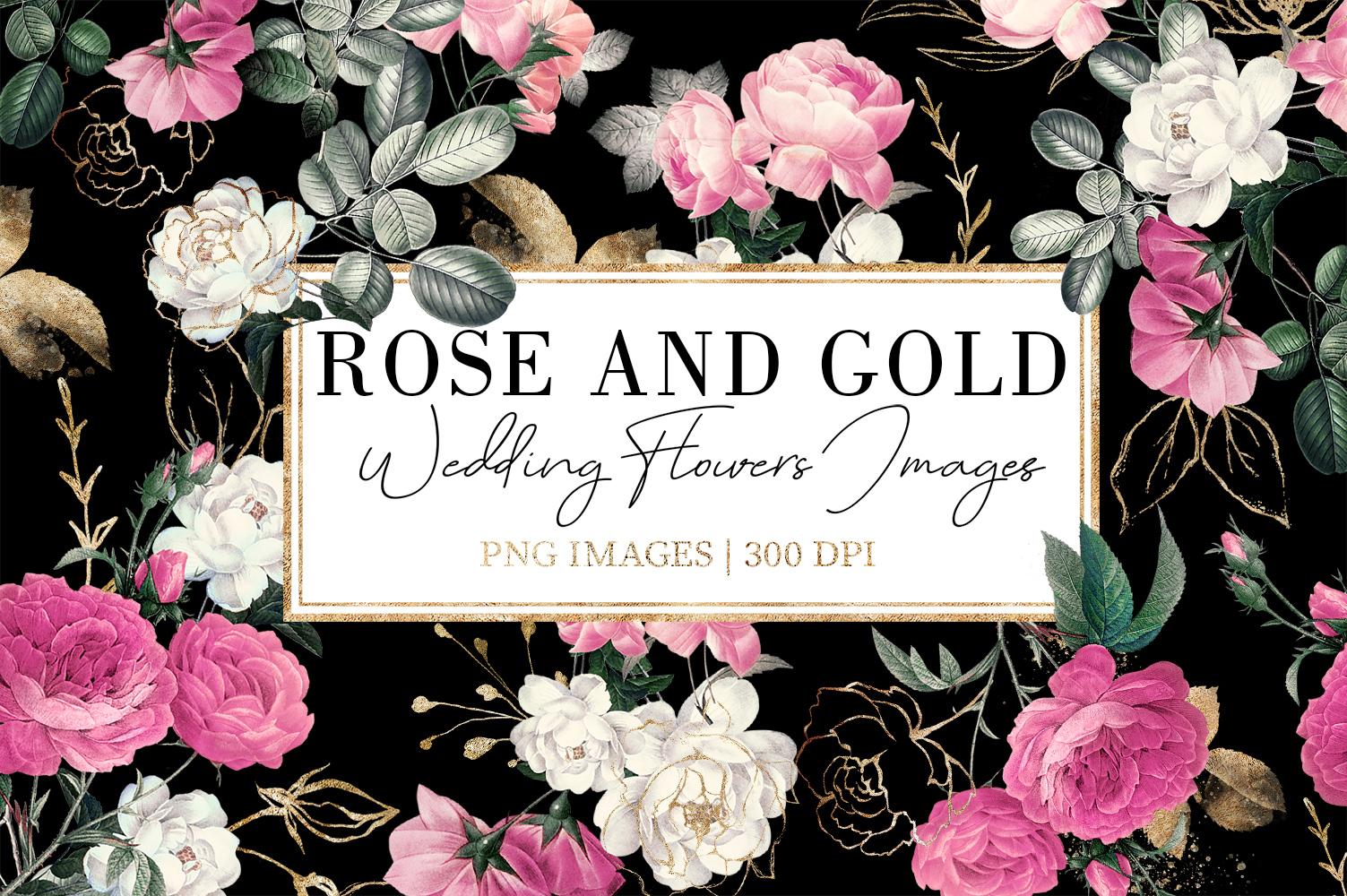 Rose and Gold| Roses vintage and gold example image 1