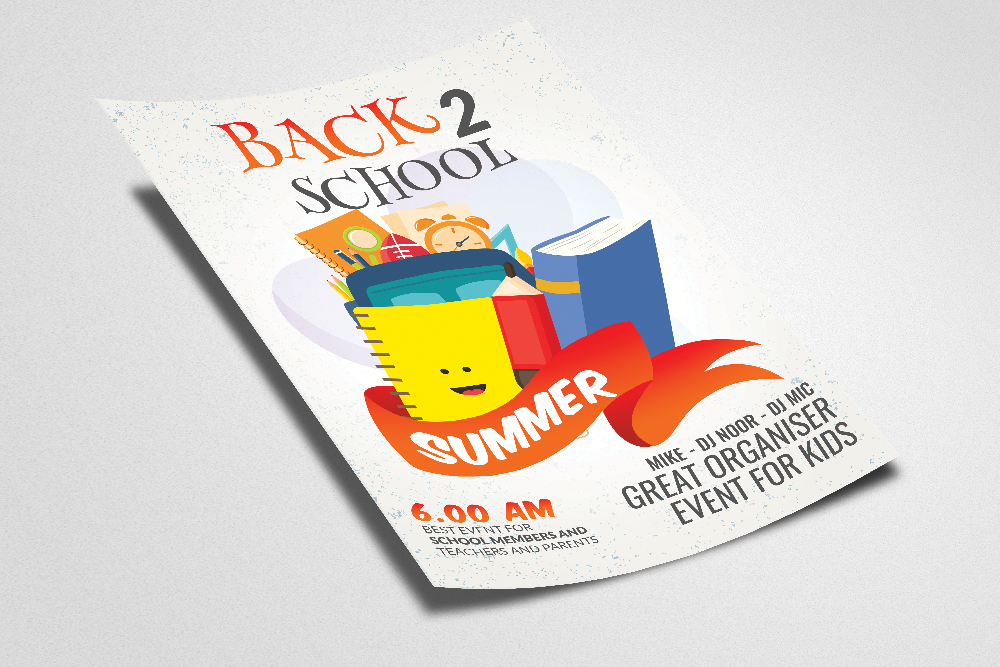 Back To School Flyer Template example image 2