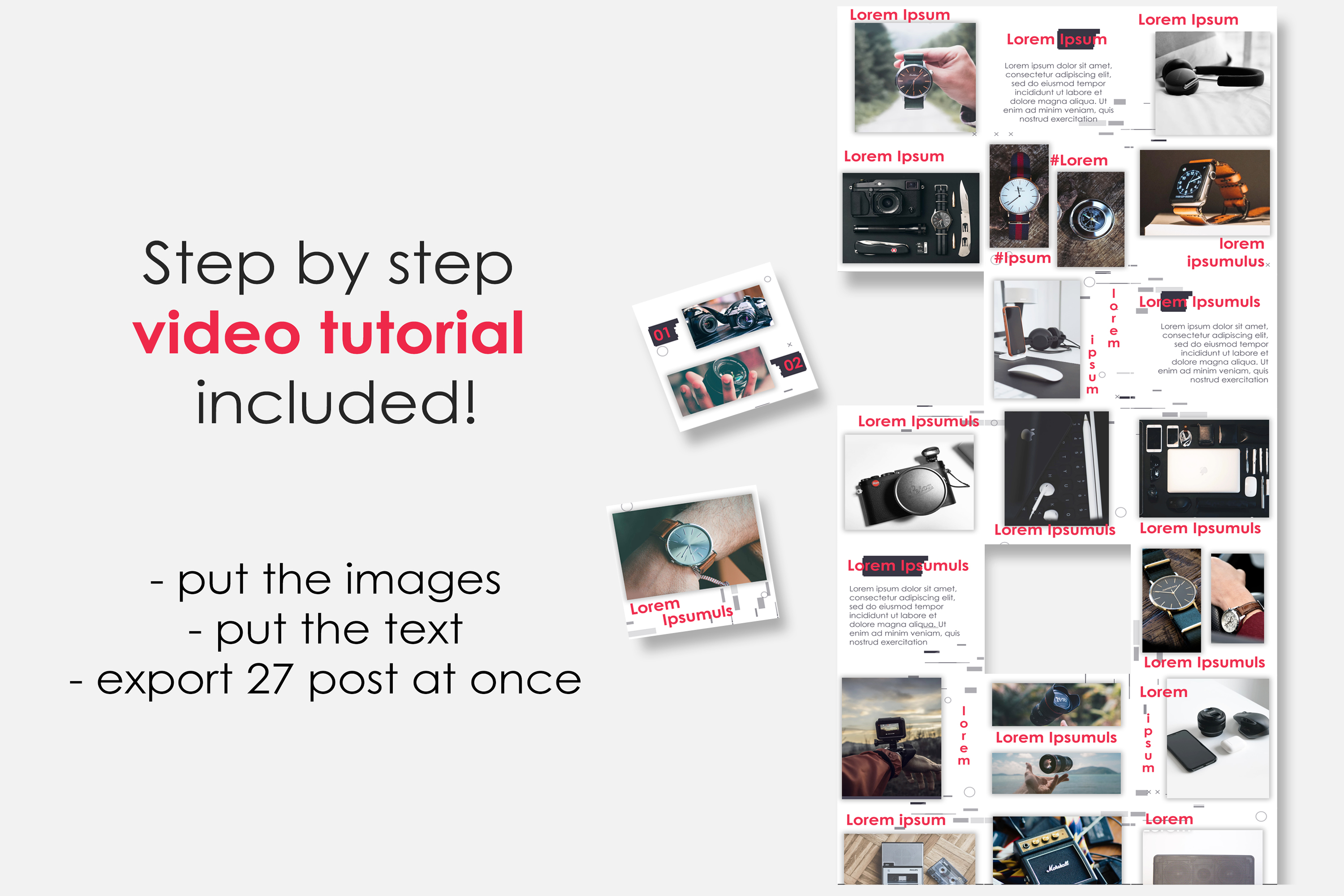 Instagram Puzzle Feed Template for Dropshipping #2