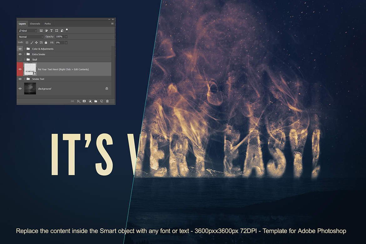 Smoke Logo Text Effect Template example image 4