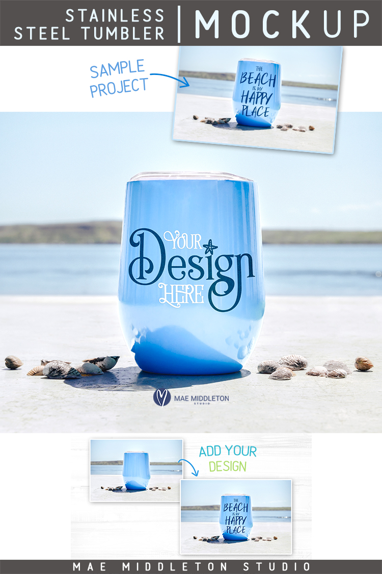 Tumbler Mock up for Summer example image 3