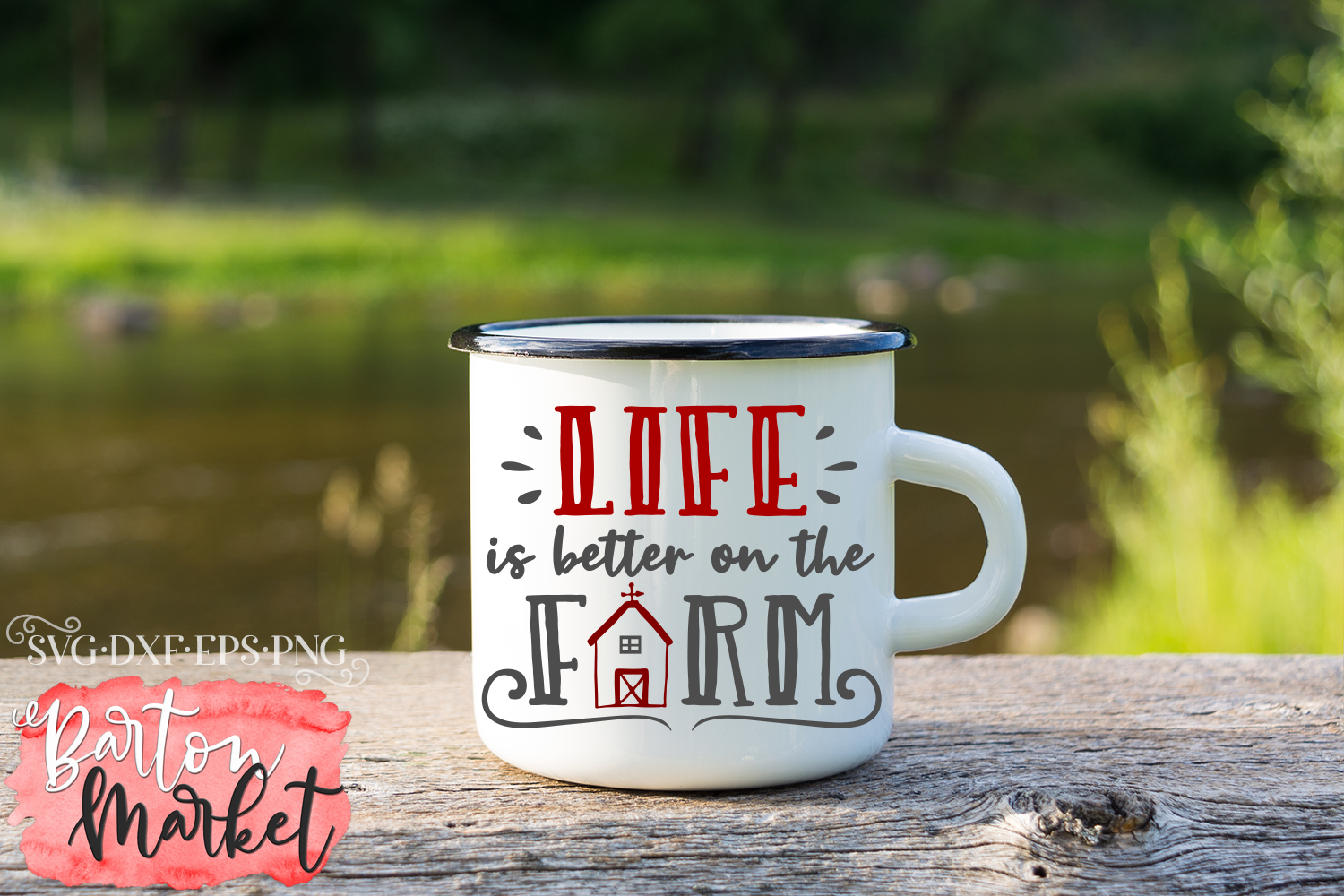 Life Is Better On The Farm SVG DXF EPS PNG example image 1