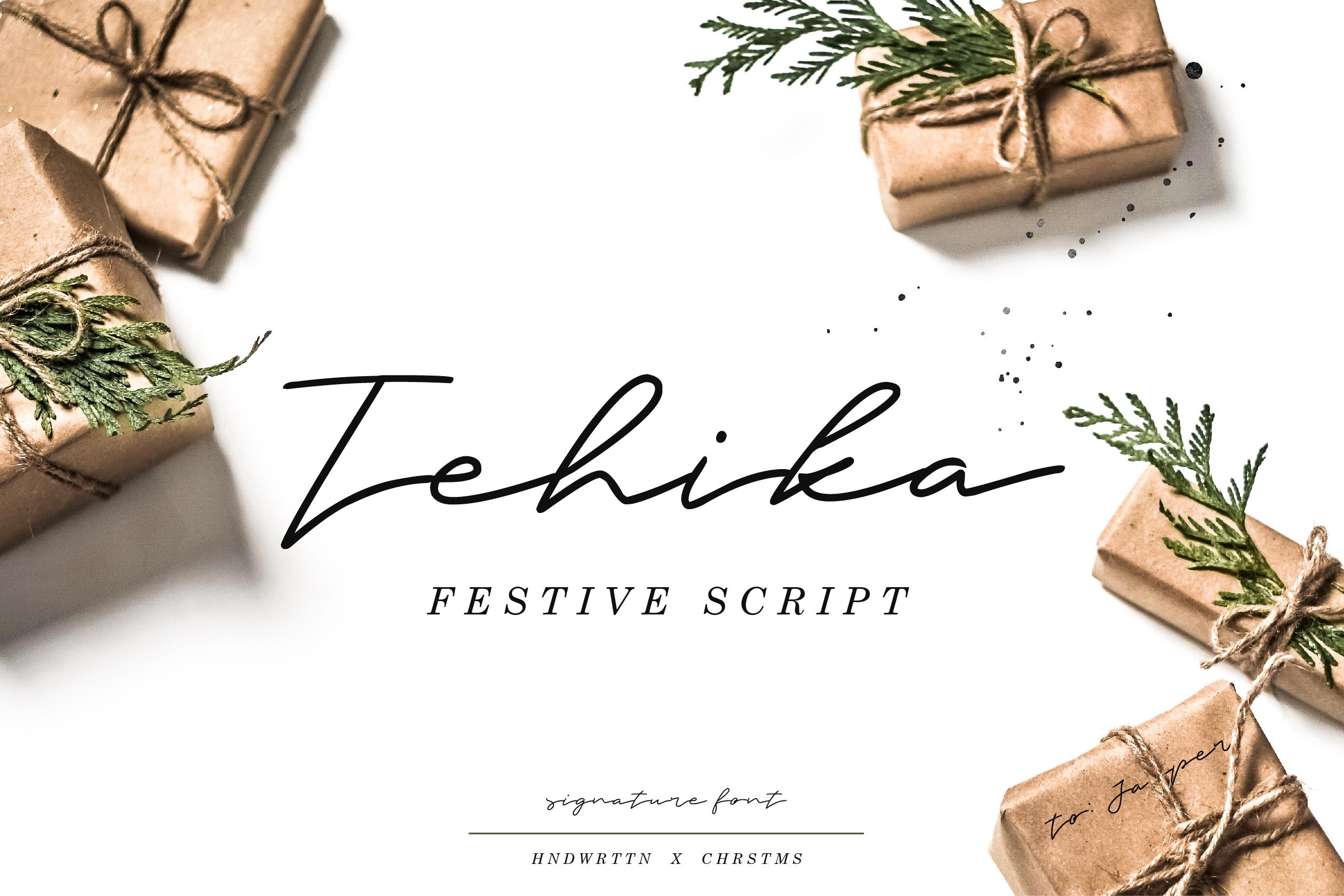 Tehika Script + Bonus example image 1